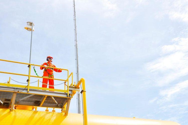 Dokumentasi salah seorang karyawan PT Perusahaan Gas Negara (PGN) saat sedang bertugas.