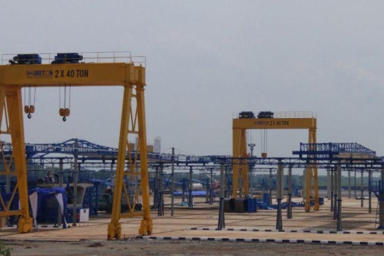 Pabrik precast Wika Beton di Subang, Jawa Barat.