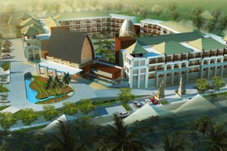Pembangunan kondotel Jineng Tamansari ini menelan investasi sebesar Rp 350 miliar.