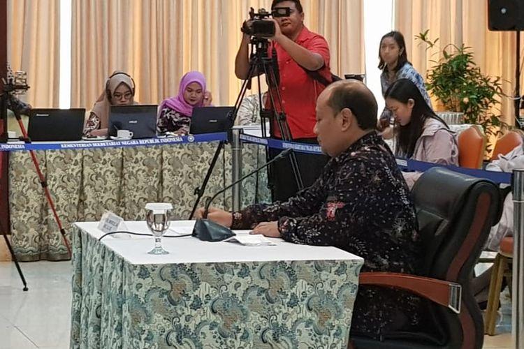 Cahyo R.E Wibowo saat mengikuti seleksi wawancara capim KPK di Gedung Kementerian Sekretariat Negara, Selasa (27/8/2019).