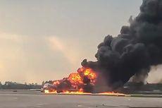 Rekaman CCTV Perlihatkan Pesawat Aeroflot Memantul Saat Mendarat Sebelum Terbakar