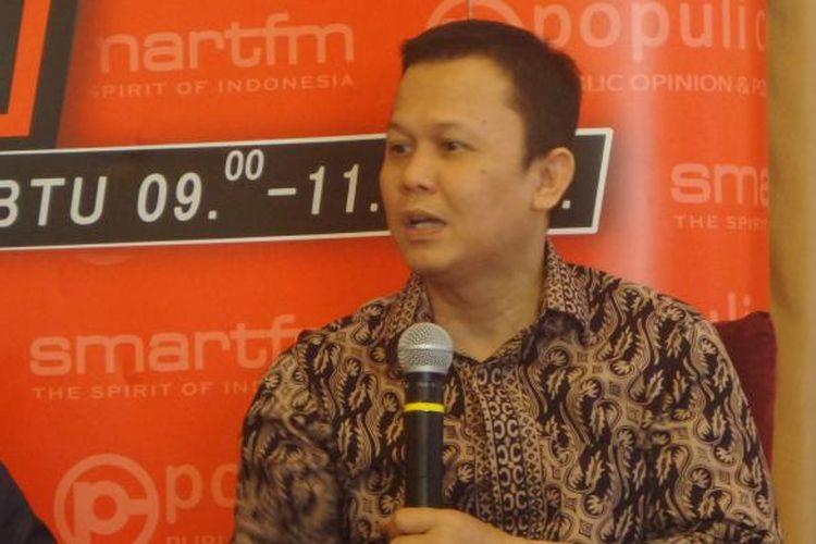 Ketua DPP Partai Golkar Andi Harianto Sinulingga dalam acara diskusi di bilangan Menteng, Jakarta Pusat, Sabtu (23/7/2016)