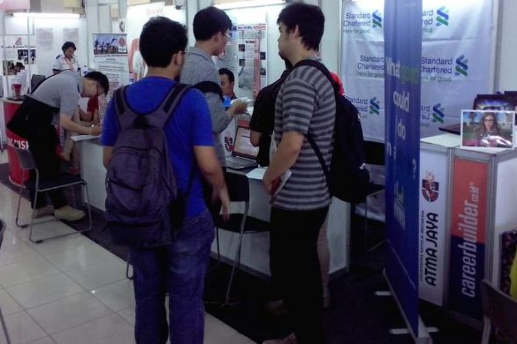 Foto ilustrasi mahasiswa pencari kerja.