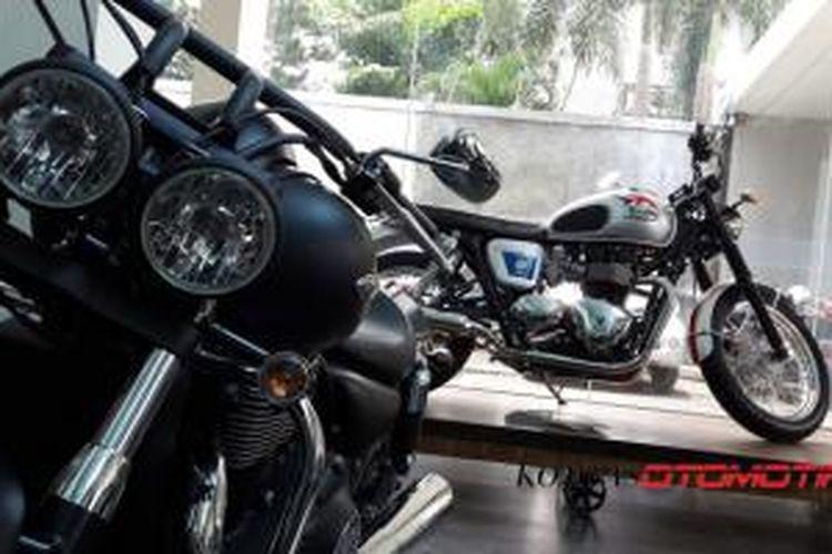 Model-model Triumph yang sudah mulai dijual di Indonesia.