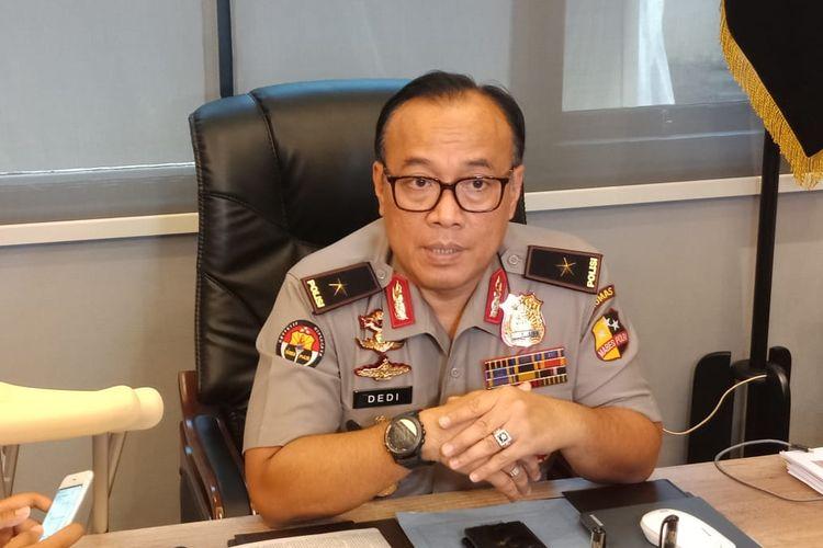 Kepala Biro Penerangan Masyarakat Polri Brigjen (Pol) Dedi Prasetyo di Gedung Humas Mabes Polri, Jakarta Selatan, Kamis (20/6/2019).