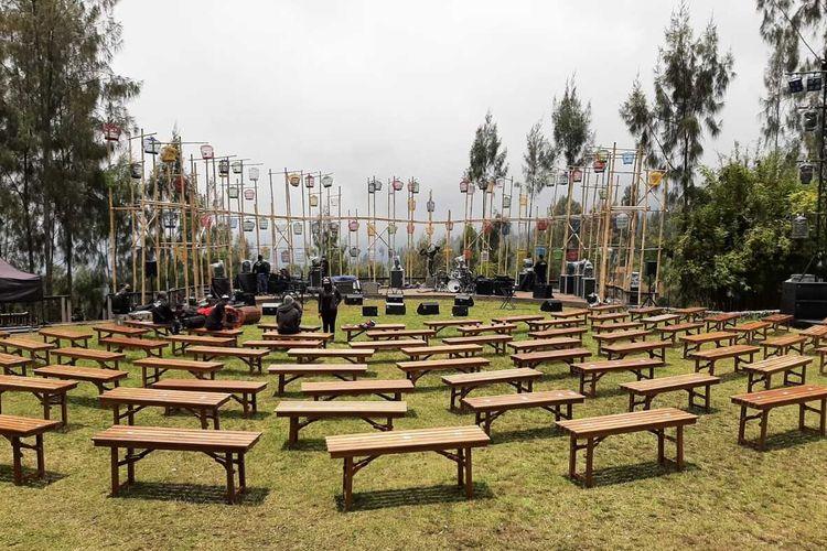 Venue Konser Jazz Gunung Bromo 2021 yang akan digelar Sabtu (25/9/2021) besok di Jiwa Jawa Resort Bromo.
