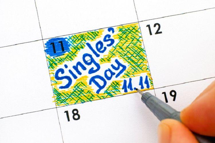 Singles Day jatuh tiap tanggal 11 November.