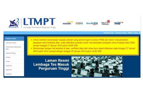 Update Pendaftar Akun LTMPT per 6 Desember 2019