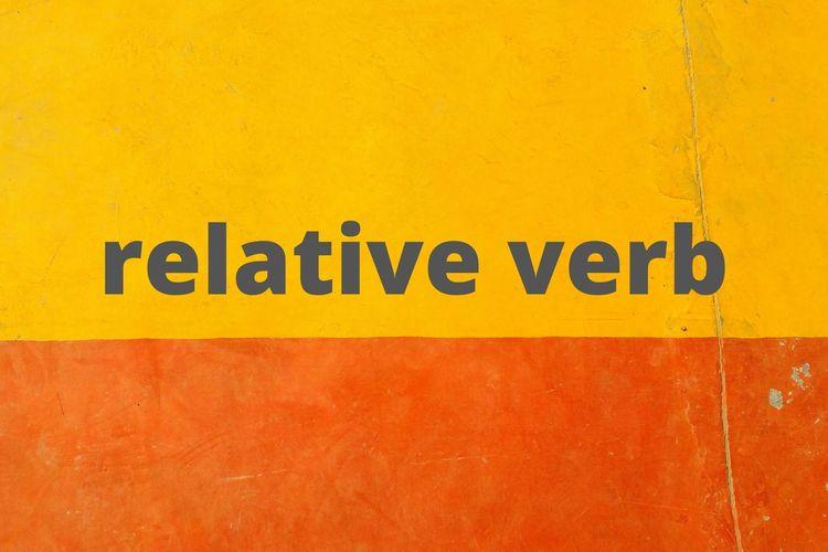 Ilustrasi tentang kata kerja penghubung dalam bahasa Inggris (relative verb atau linking verb).