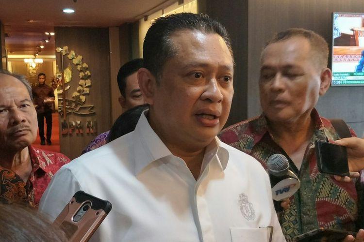 Ketua DPR Bambang Soesatyo di Kompleks Parlemen, Senayan, Jakarta, Kamis (1/2/2018)