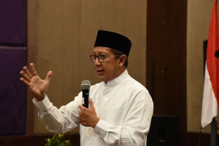 Menteri Agama Republik Indonesia Lukman Hakim Saifuddin di Bekasi, Minggu (11/11/2018).