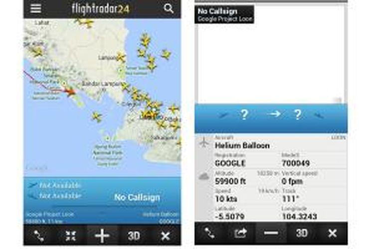 Balon udara Google yang digunakan dalam
