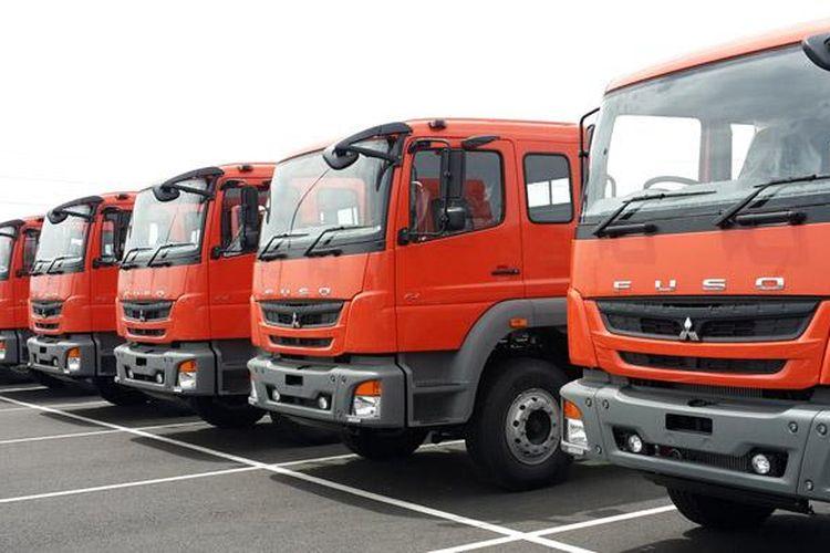 Mitsubishi Fuso mulai diekspor dari pelabuhan Chennai, India.