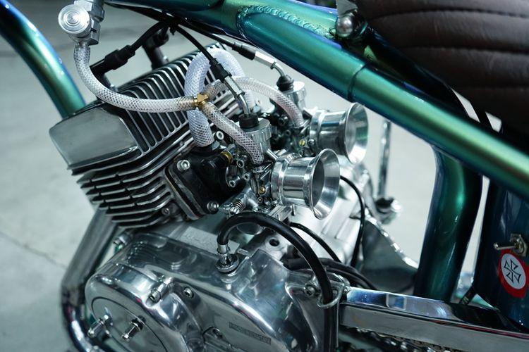 Yamaha RD 125 dengan konsep American Dragster ramaikan Kustomfest 2019