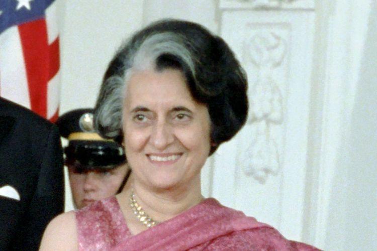 Mantan Perdana Menteri India Indira Gandhi di Amerika Serikat pada 29 Juli 1982.