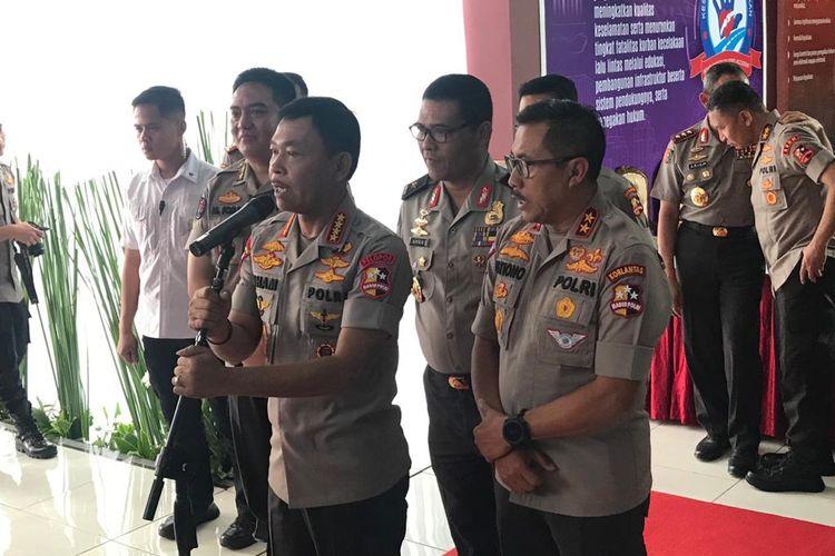 Kapolri Jenderal (Pol) Idham Azis di Pusat Pendidikan Lalu Lintas (Pusdik Lantas), Serpong, Tangerang Selatan, Banten, Selasa (11/2/2020).
