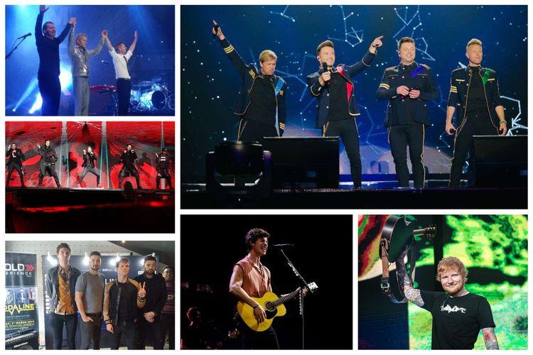 Kolase konser solois dan band dari luar negeri sepanjang tahun 2019