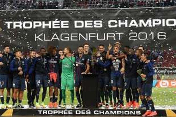 PSG memenangi gelar Piala Super Perancis 2016 pada laga yang dilangsungkan di Austria, Sabtu (6/8/2016).
