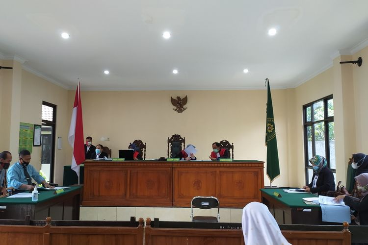 Sidang perdana gugatan terhadap RS Dadi Keluarga digelar di Pengadilan Negeri Purwokerto, Jawa Tengah, Rabu (20/1/2021).