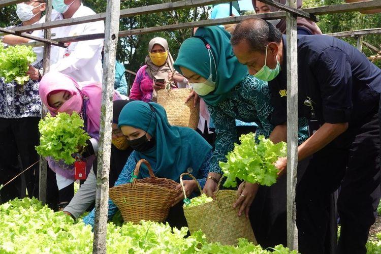 BKP Kementan mengunjungi pelaksanaan program P2L di Kelurahan Landasan Ulin Utara, Kecamatan Liang Anggang, Banjarbaru, Kalimantan Selatan, Rabu, (31/3/2021).