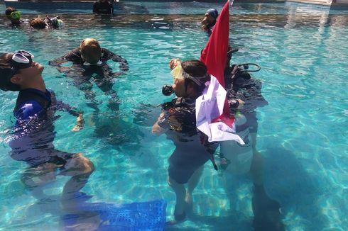 Cerita Penyandang Difabel Kibarkan Bendera Merah Putih Dalam Laut, Awalnya Ragu