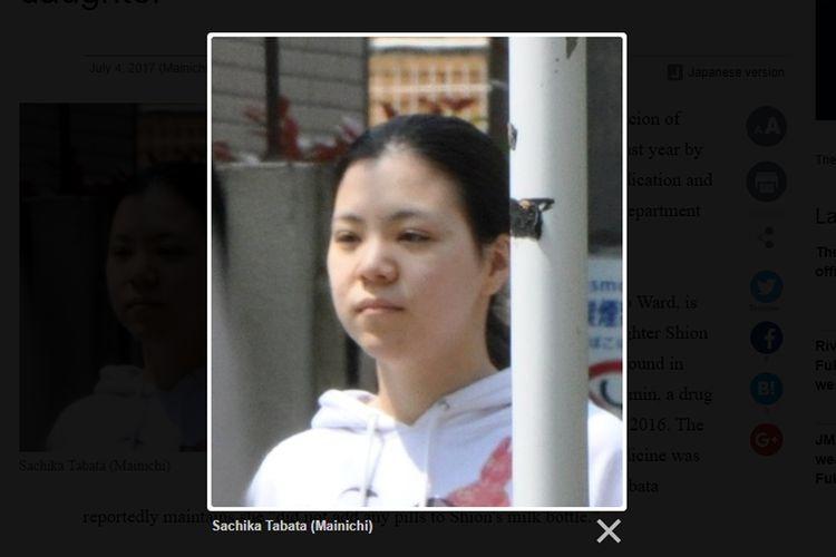 Sachika Tabata, yang ditangkap pada hari Selasa, diduga menambahkan obat tekanan darah tinggi ke susu Shion pada 29 Desember lalu.