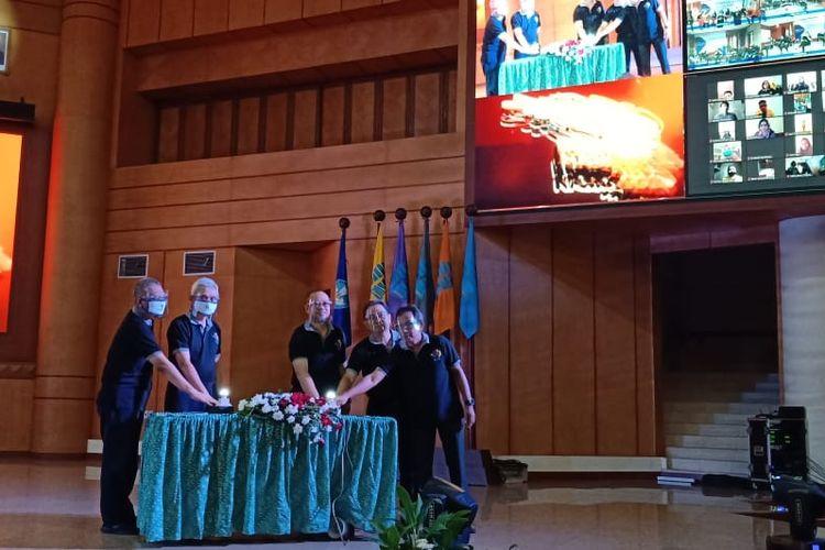 Pembukaan Diskusi, Pekan Olah Raga, dan Seni Universitas Terbuka (Disporseni) Nasional 2020 (18/8/2020), bagian dari rangkaian kegiatan UT ke-36.