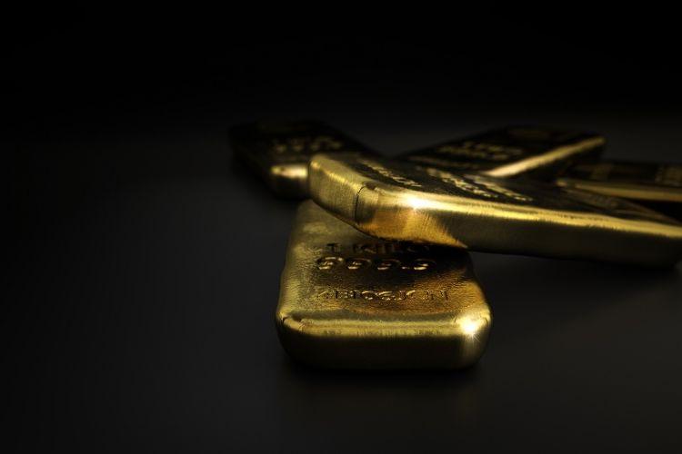 Ilustrasi emas batangan.