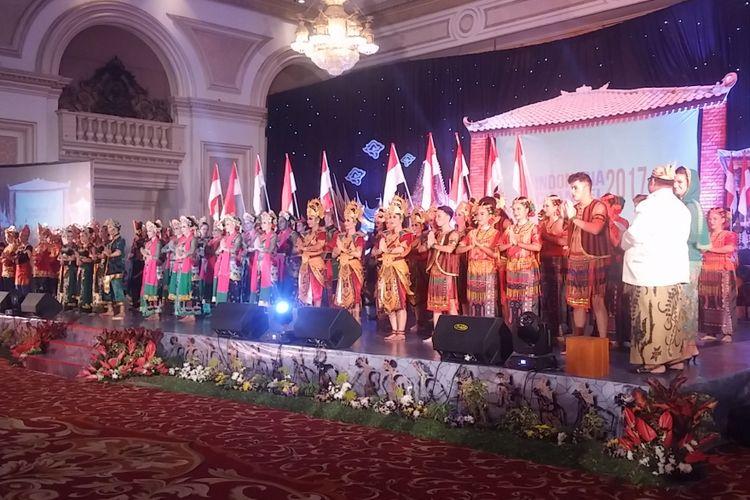 Puncak acara Indonesia Channel 2017 di gedung The Empire Palace Surabaya, Jumat (18/8/2017) malam.