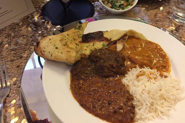 Salah satu maincourse dari menu From Mumbai With Love yaitu Mamas salah satu masakan andalam Chef Aminder Sandhu kari khas India yaitu makanan tradisional India, kari