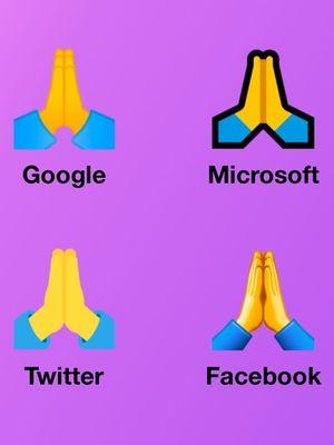 Macam-macam bentuk emoji folded hands untuk mengekspresikan tolong, berdoa, dan terima kasih.