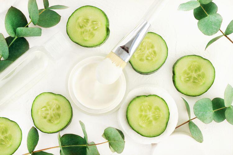 Ilustrasi produk kosmetik vegan