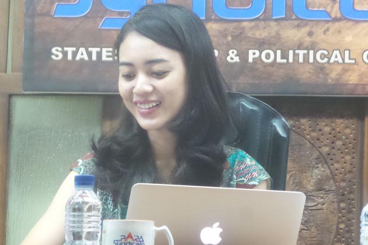 Pengurus Komunitas Meme Anak Muda Indonesia Ani Eliya.