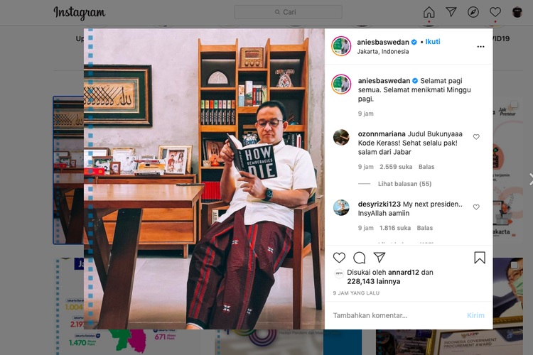 Anies Baswedan dan buku How Democracies Die