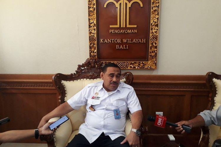 Kepala Kanwil Kemenkumham Bali, Sutrisno saat ditemui di Denpasar, Rabu (4/3/2020).