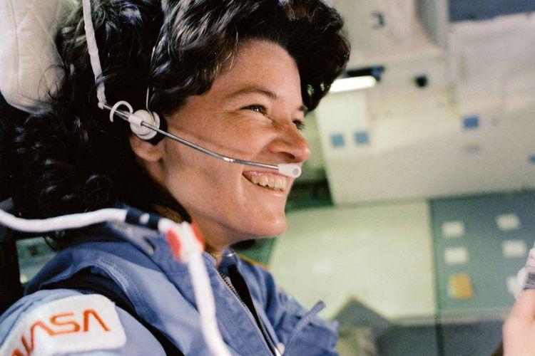 Sally Ride, astronot perempuan pertama AS yang pergi ke luar angkasa.