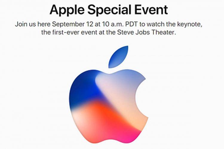 Undangan Apple untuk acara peluncuran pada 12 September 2017