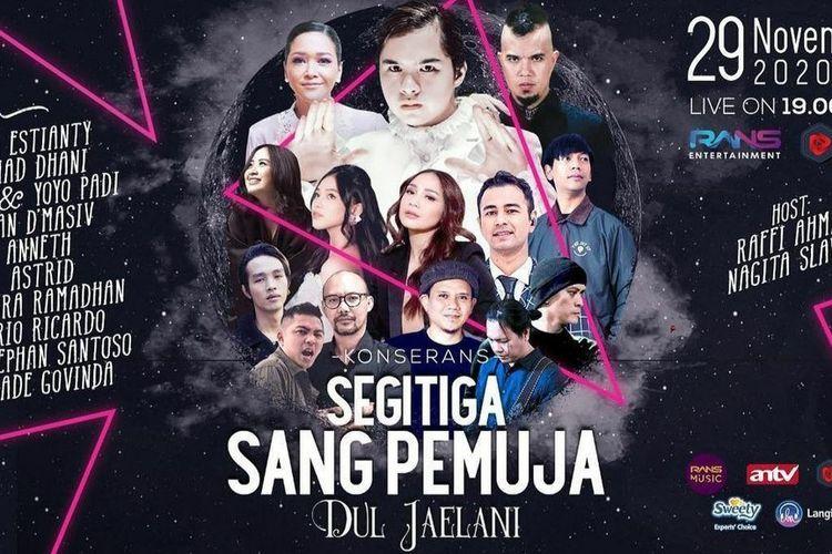 Poster konser Segitiga Sang Pemuja