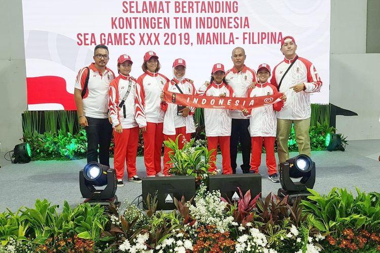 Tim Skateboard Indonesia yang akan bertanding di SEA Games ke-30 di Filipina mulai 3-8 Desember 2019 di Tagatay City Extreme Sports Complex.