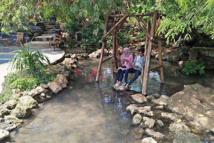 Salah satu spot di Wagos, yang menjadi favorit bagi pengunjung muda.