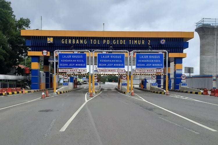 Ilustrasi Gerbang Tol Pondok Gede Timur 2