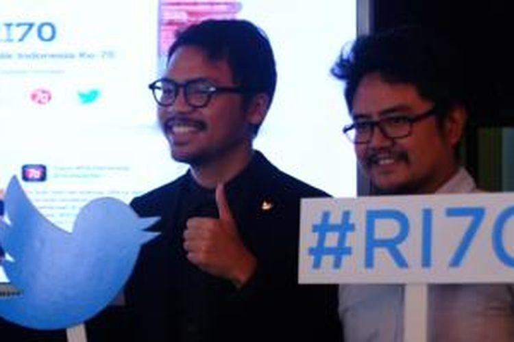 (ki-ka) Partnerships Manager Twitter Indonesia Teguh Wicaksono, pegiat media sosial Shafiq Pontoh