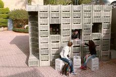 Ini Baru Mahasiswa, Ciptakan Konstruksi dari Krat Plastik