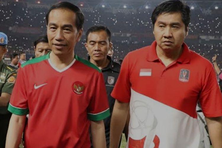Presiden Joko Widodo dan Maruarar Sirait.