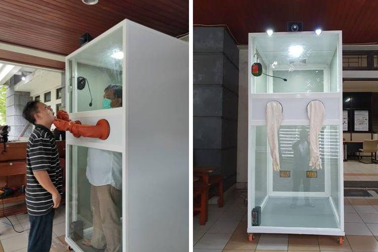 Bilik swab yang dibuat oleh dosen Fakultas Pertanian Universitas Gadjah Mada, Jaka Widada.