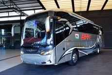 Bodi Bus Baru Laksana Legacy SR2 Panorama, Langsung Dipakai PO SAN