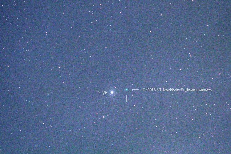 Komet C/2018 V1 dari langit Jepang