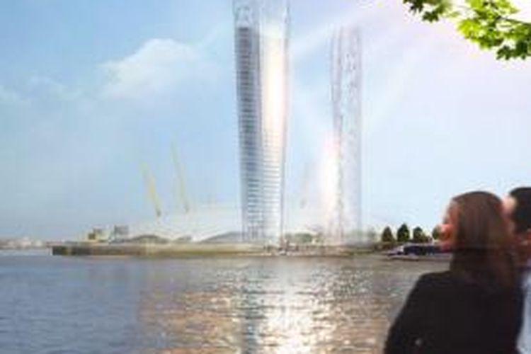 Menara ini akan mengarahkan sinar matahari ke jalan-jalan dan orang yang lewat di bawahnya, sehingga tidak membuat kota gelap karena terhalang gedung.