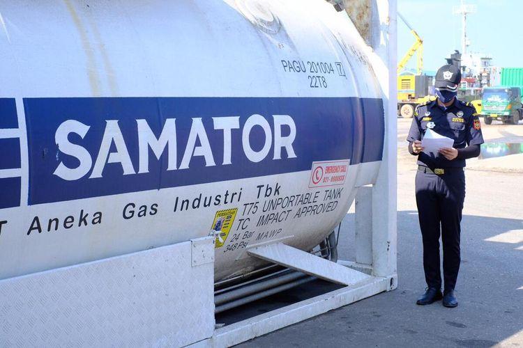Oksigen yang didistribusikan adalah hasil produksi PT Samator Gas Industri yang merupakan produsen oksigen murni di Batam.