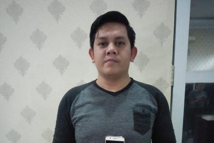 Janri Pakpahan saat diamankan Direskrimsus Polda Sumut, Sabtu (18/5/2019).